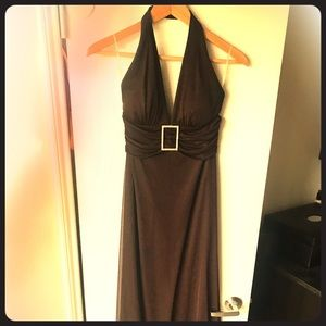 Brown formal dress
